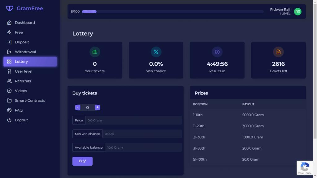 Gramfree lottery