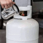 How to Check the level of your Cooking Gas left using warm water